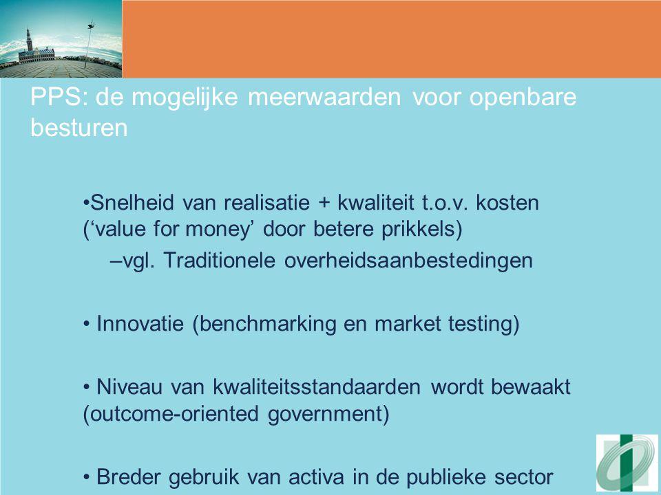 PPS: de mogelijke meerwaarden voor openbare besturen
