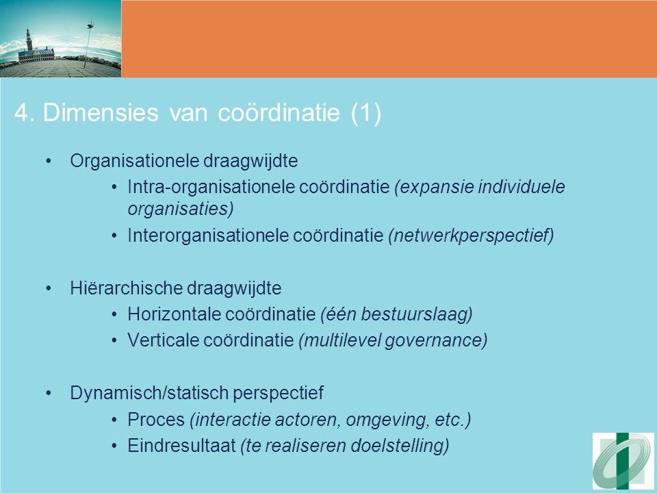4. Dimensies van coördinatie (1)