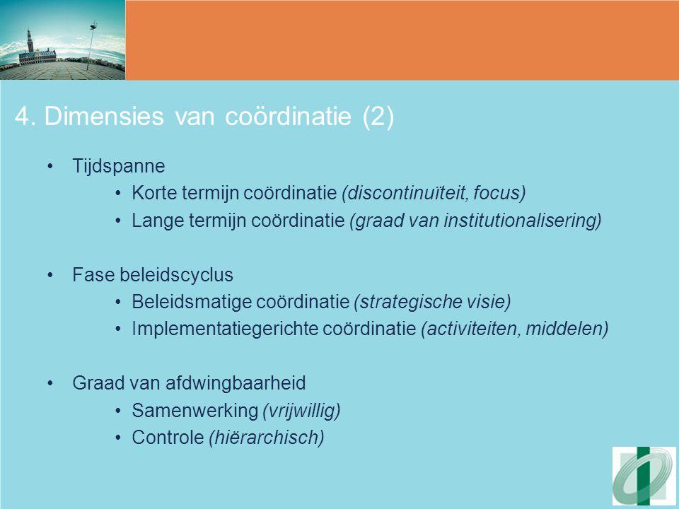 4. Dimensies van coördinatie (2)