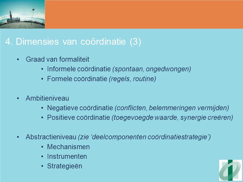4. Dimensies van coördinatie (3)