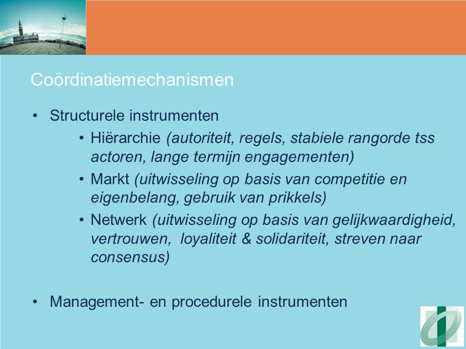 Coördinatiemechanismen