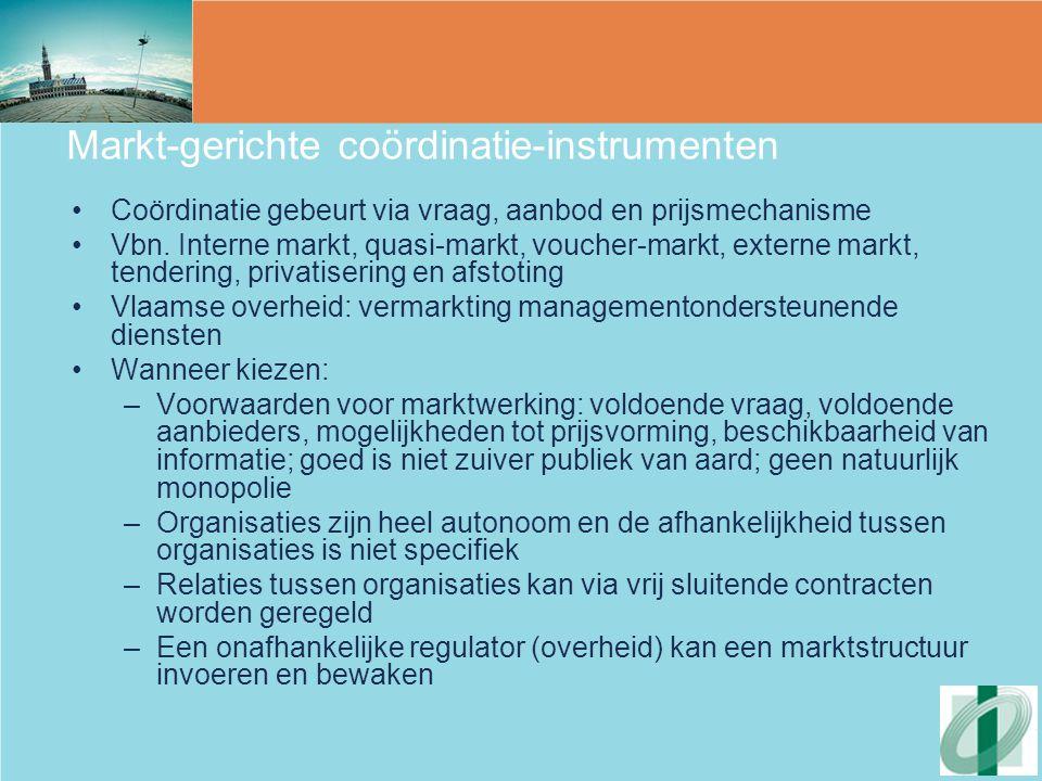 Markt-gerichte coördinatie-instrumenten
