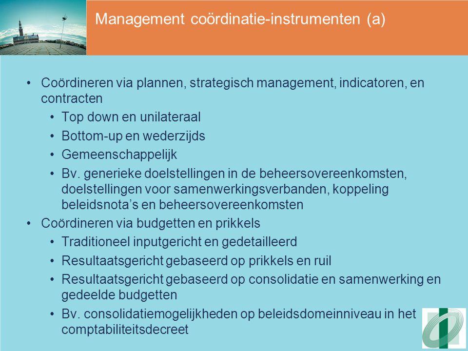 Management coördinatie-instrumenten (a)
