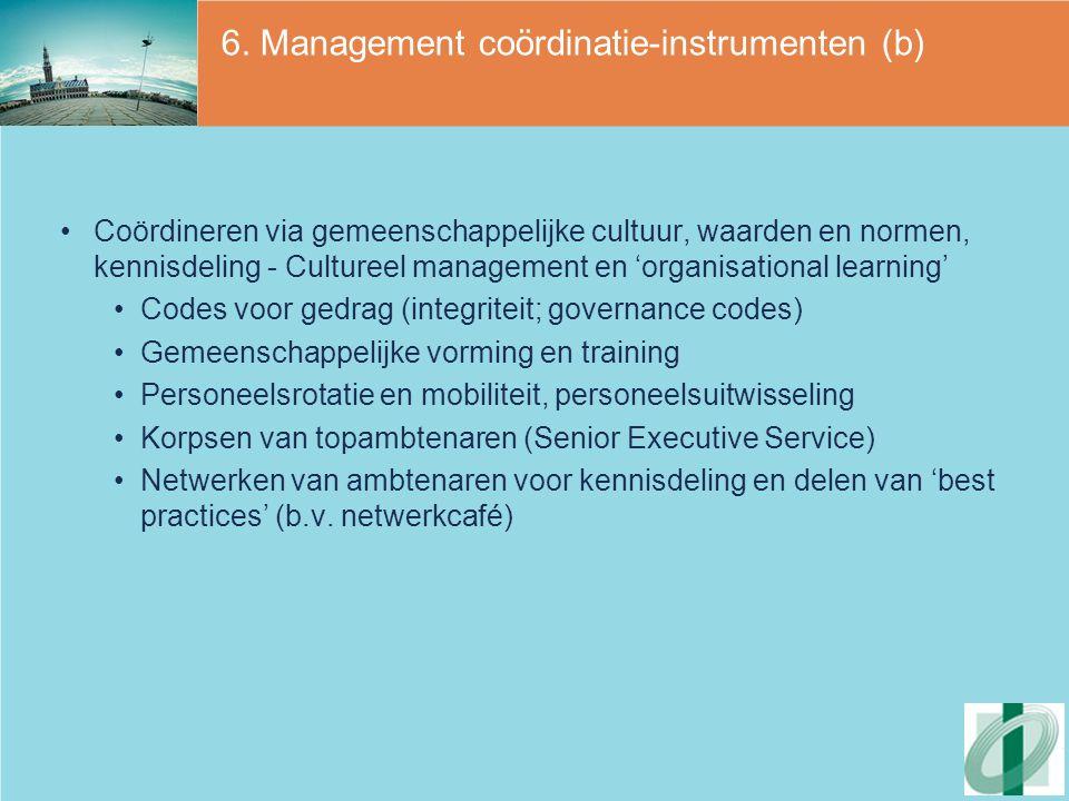 6. Management coördinatie-instrumenten (b)