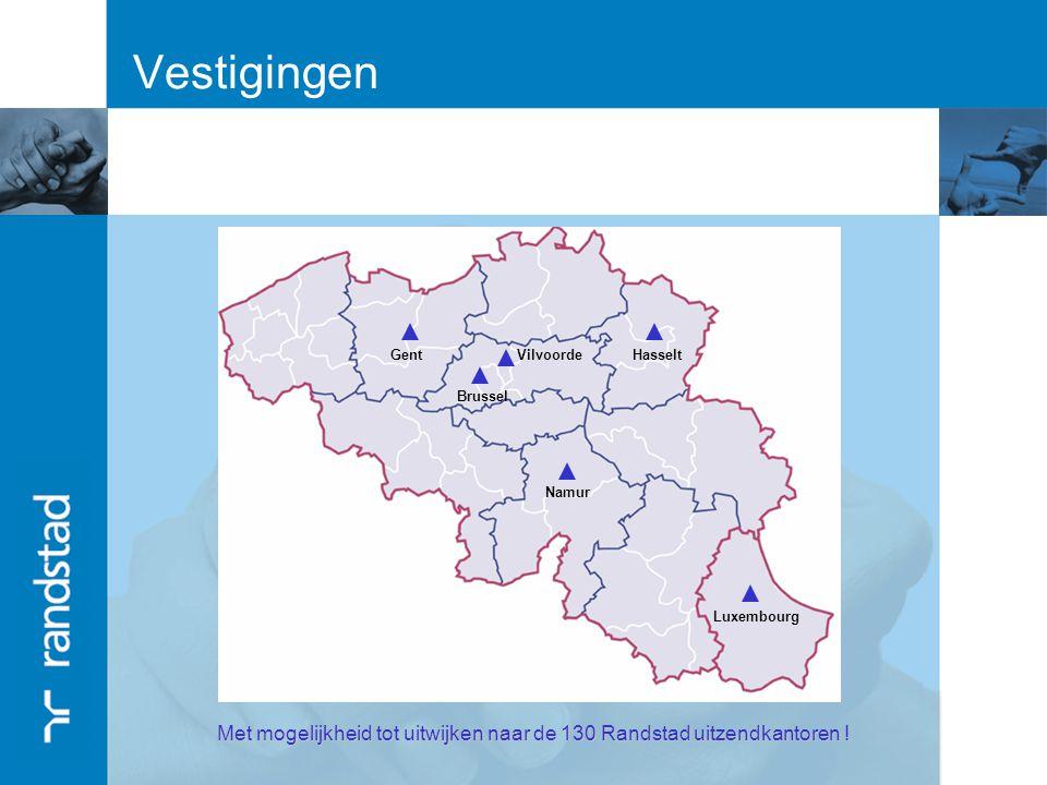 Met mogelijkheid tot uitwijken naar de 130 Randstad uitzendkantoren !