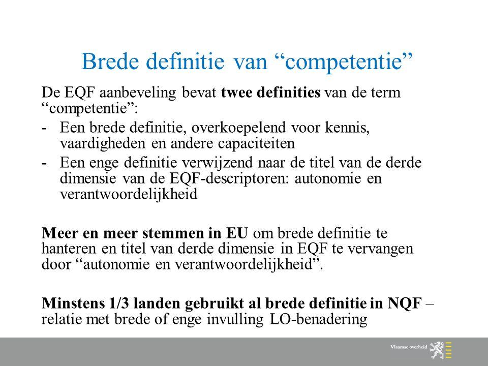 Brede definitie van competentie