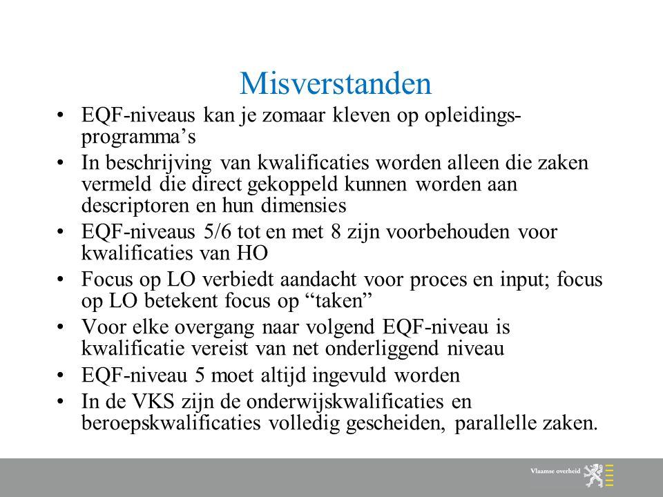 Misverstanden EQF-niveaus kan je zomaar kleven op opleidings-programma's.