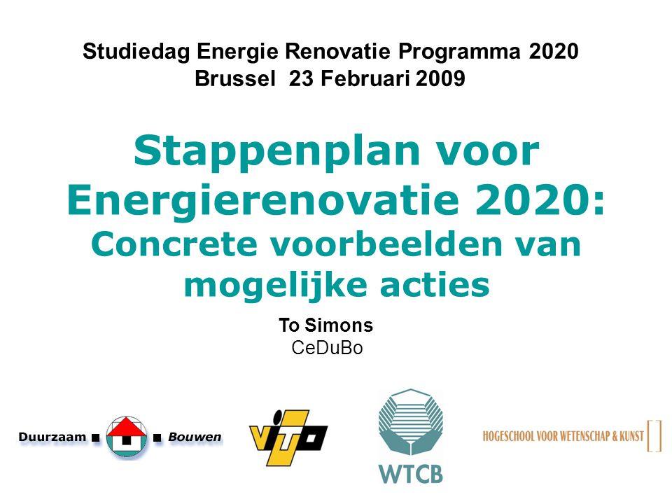 Studiedag Energie Renovatie Programma 2020