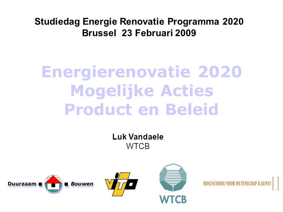 Energierenovatie 2020 Mogelijke Acties Product en Beleid
