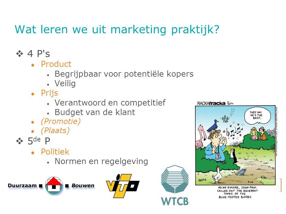 Wat leren we uit marketing praktijk