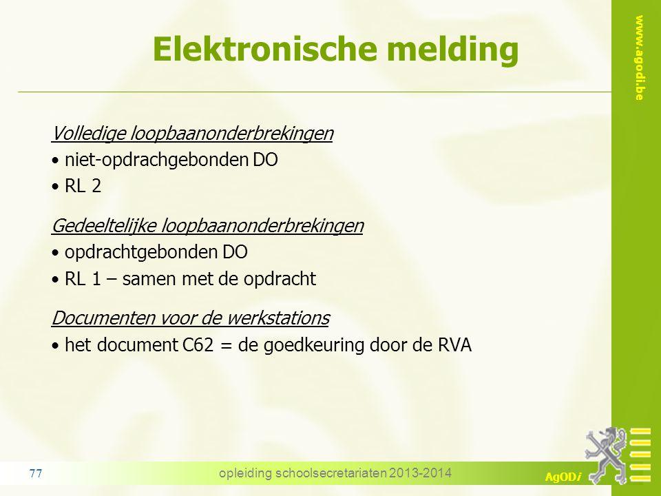 Elektronische melding