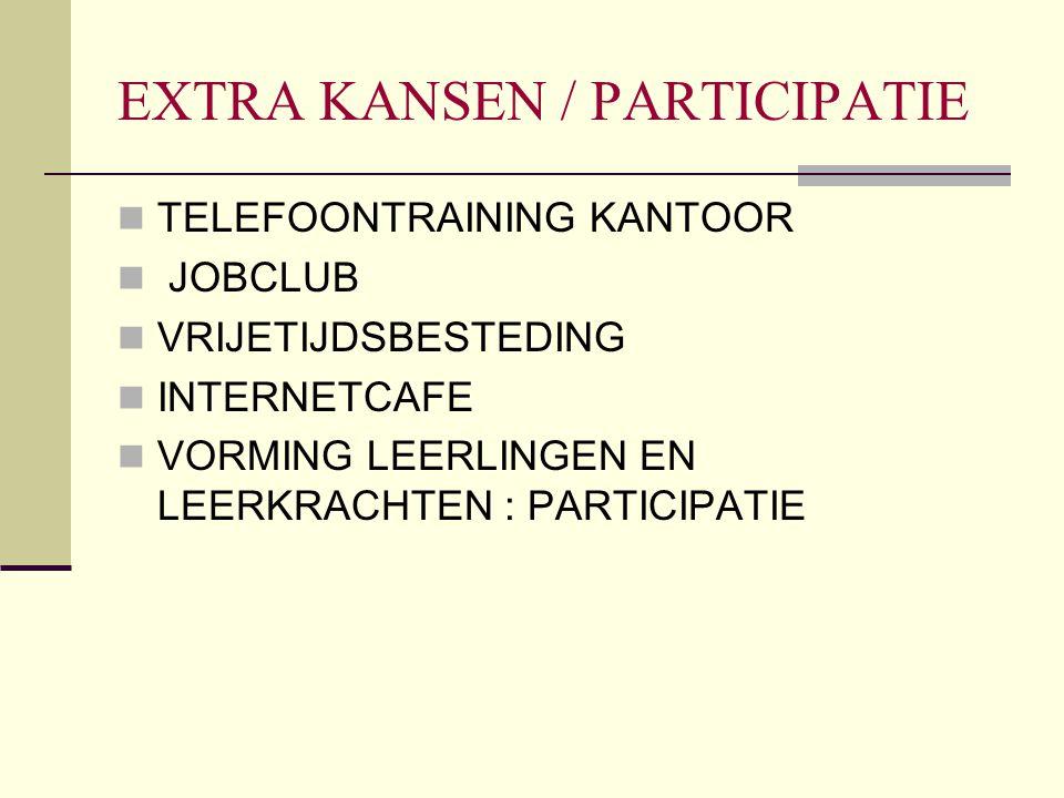 EXTRA KANSEN / PARTICIPATIE