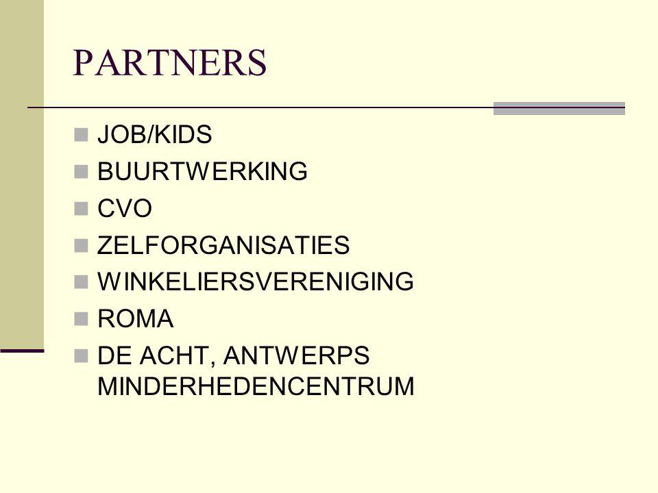 PARTNERS JOB/KIDS BUURTWERKING CVO ZELFORGANISATIES