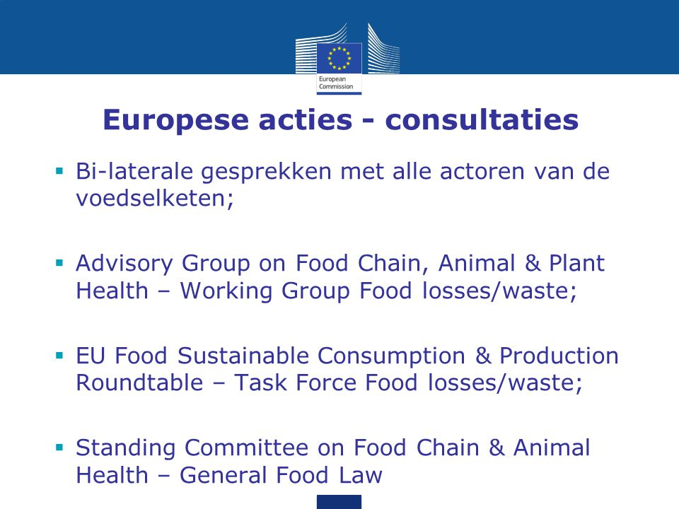 Europese acties - consultaties