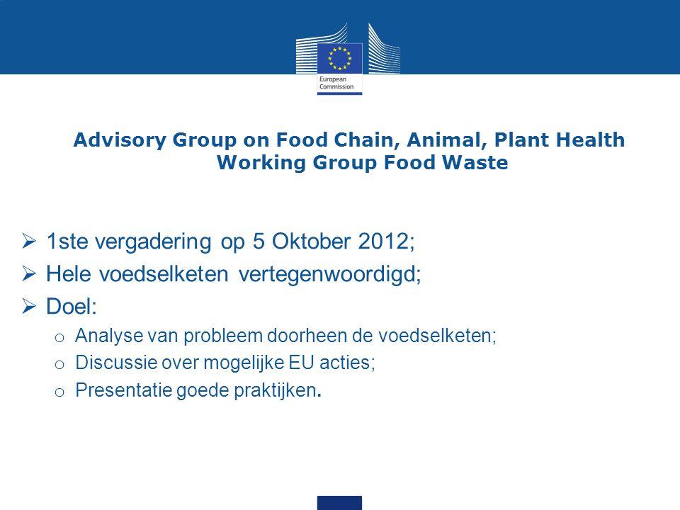 1ste vergadering op 5 Oktober 2012;