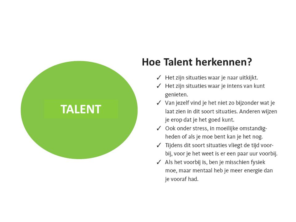 Hoe Talent herkennen TALENT