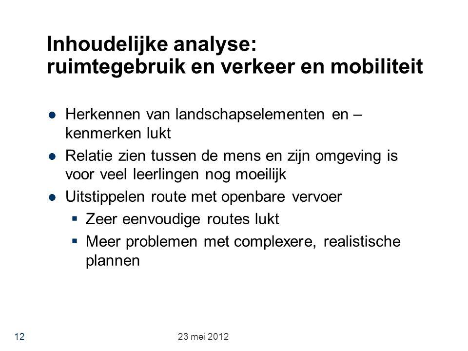 Inhoudelijke analyse: ruimtegebruik en verkeer en mobiliteit