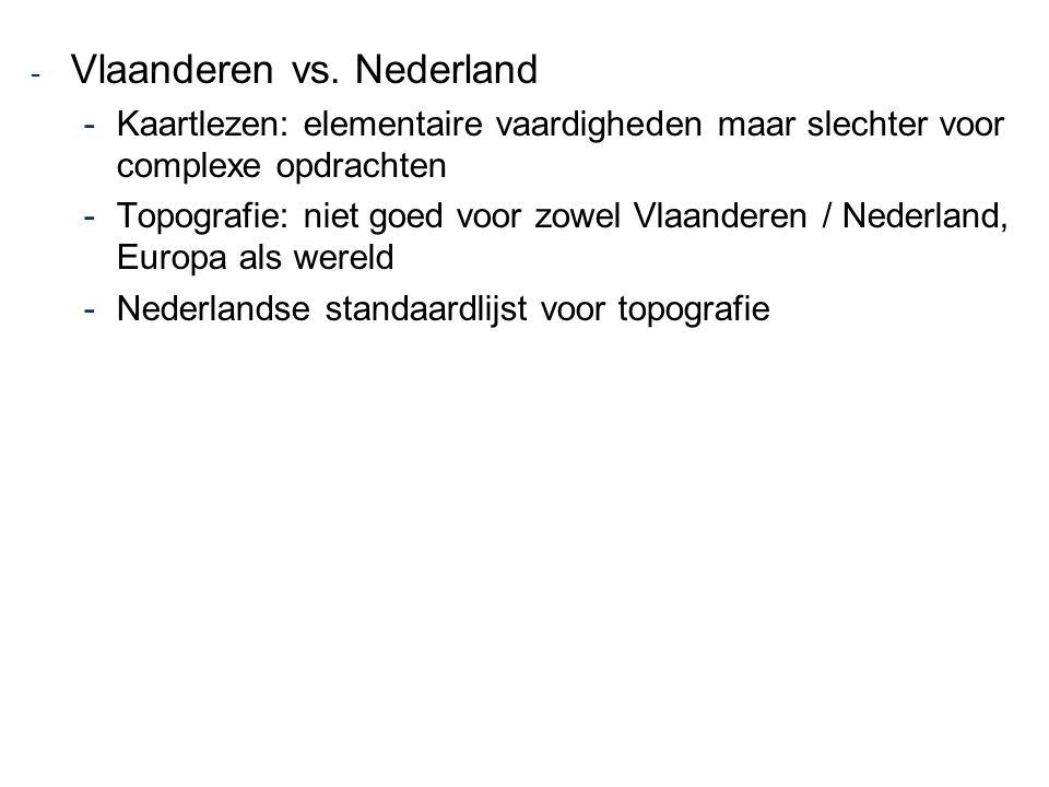 Vlaanderen vs. Nederland