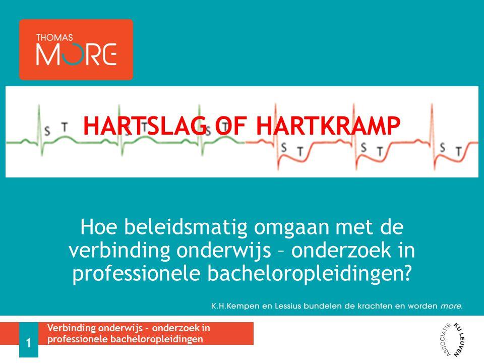 Hartslag of hartkramp Hoe beleidsmatig omgaan met de verbinding onderwijs – onderzoek in professionele bacheloropleidingen