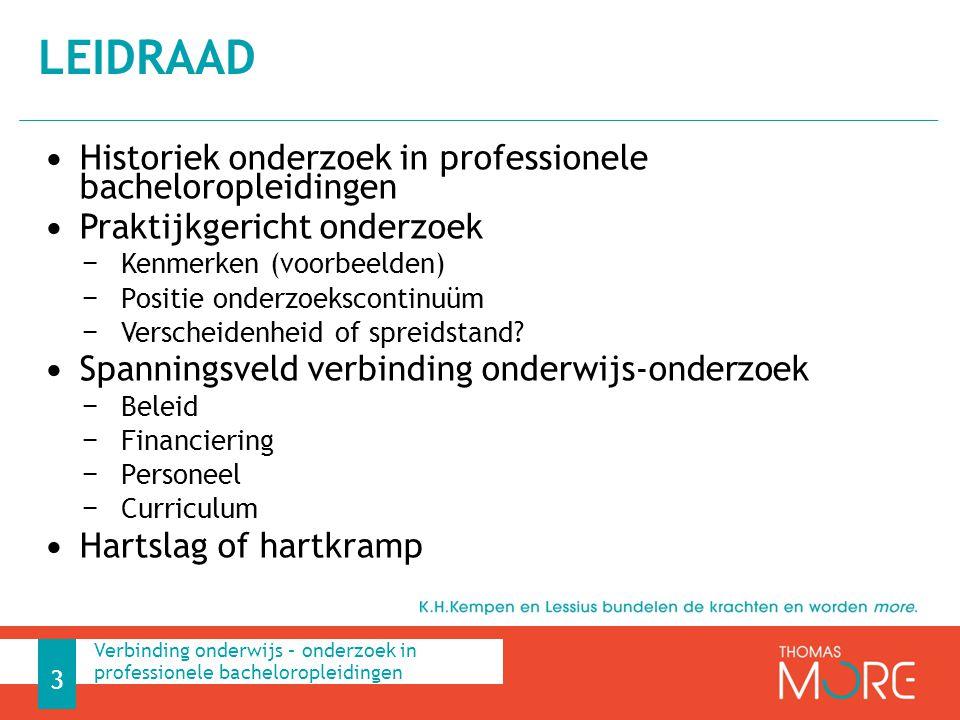LEIDRAAD Historiek onderzoek in professionele bacheloropleidingen