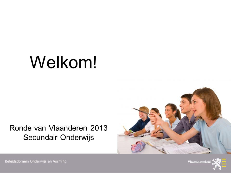 Welkom! Ronde van Vlaanderen 2013 Secundair Onderwijs