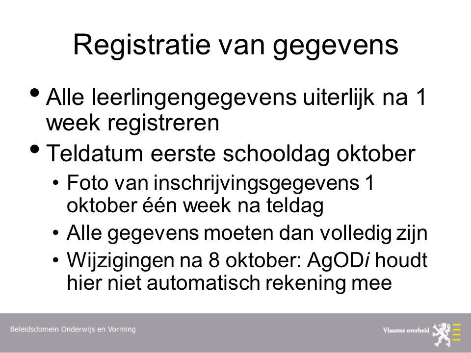 Registratie van gegevens