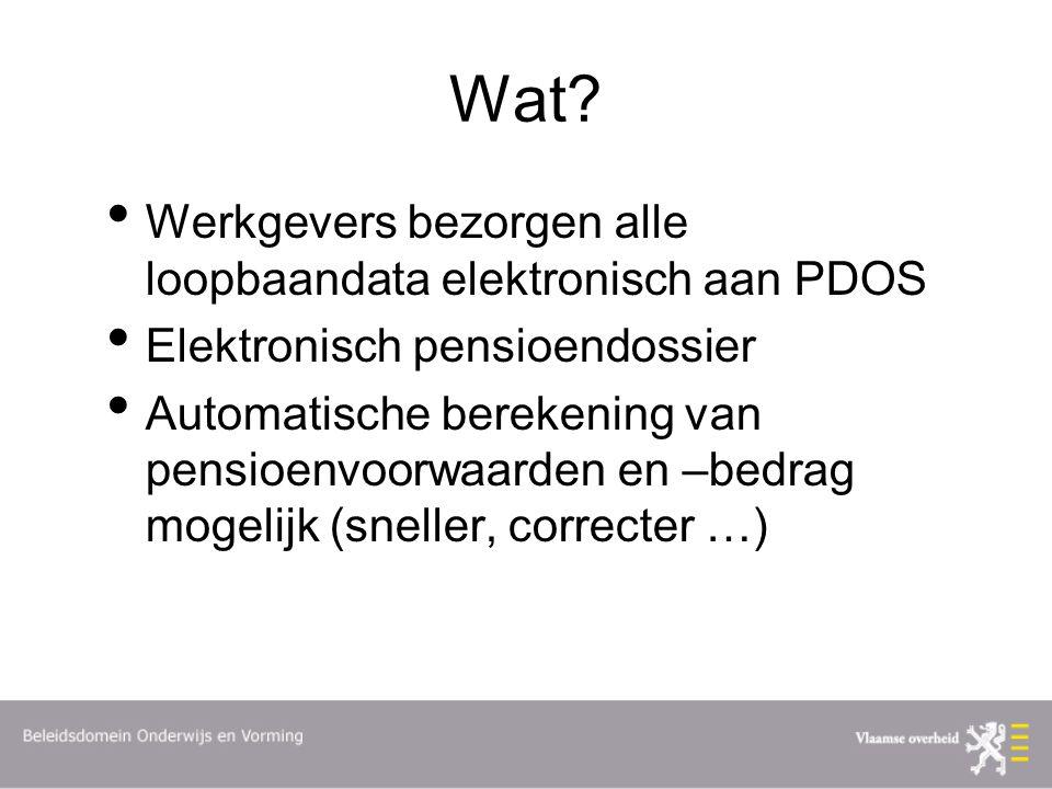 Wat Werkgevers bezorgen alle loopbaandata elektronisch aan PDOS