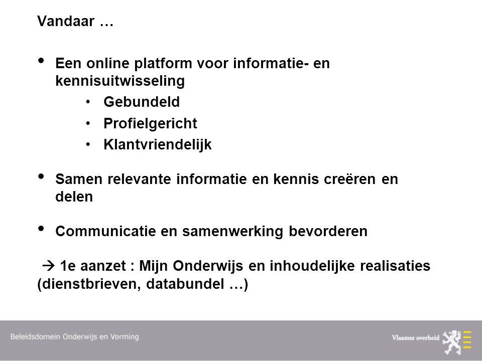 Vandaar … Een online platform voor informatie- en kennisuitwisseling. Gebundeld. Profielgericht. Klantvriendelijk.