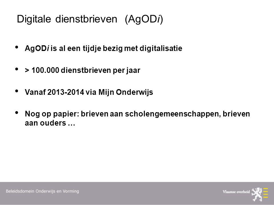 Digitale dienstbrieven (AgODi)