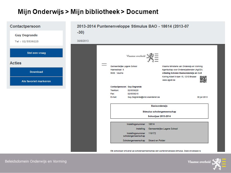 Mijn Onderwijs > Mijn bibliotheek > Document