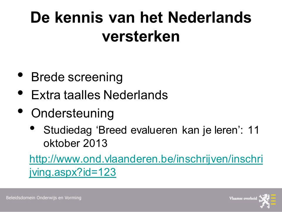 De kennis van het Nederlands versterken