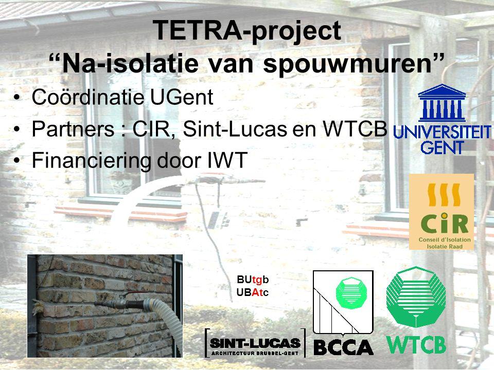 TETRA-project Na-isolatie van spouwmuren
