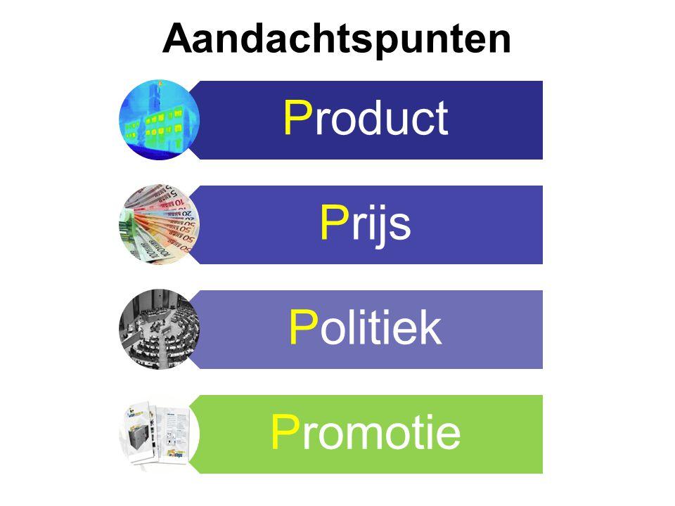 Aandachtspunten Product Prijs Politiek Promotie