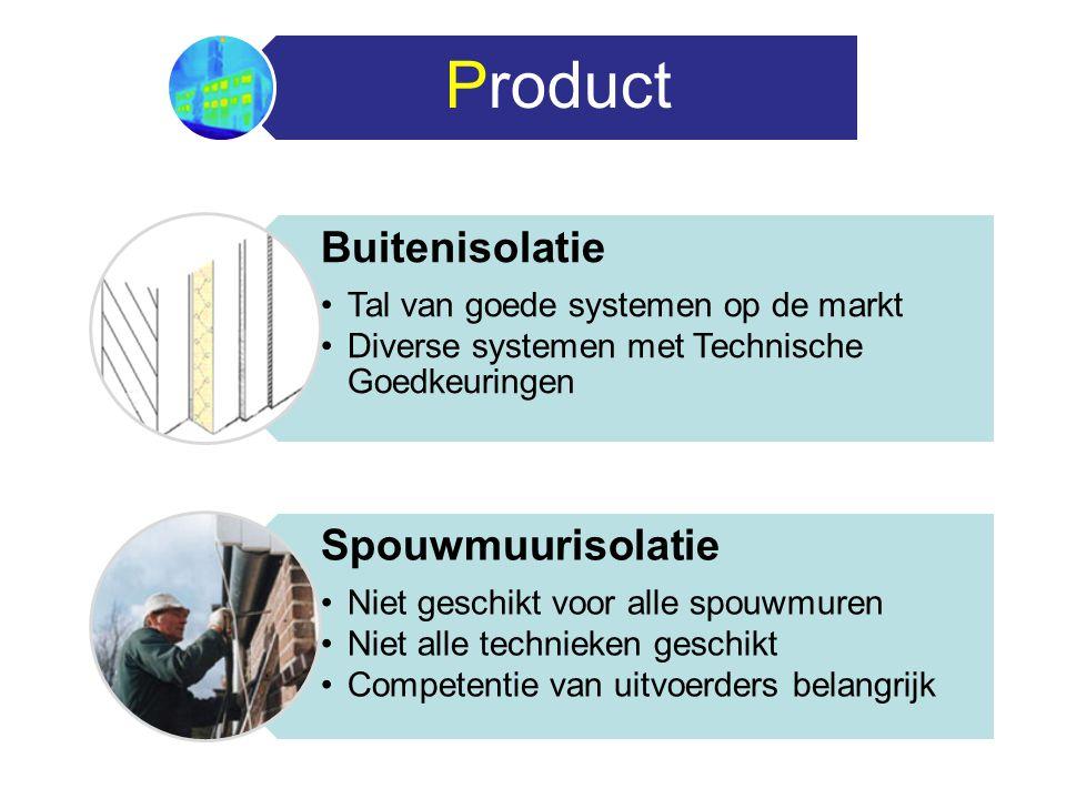 Product Buitenisolatie Tal van goede systemen op de markt