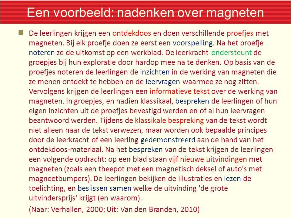 Een voorbeeld: nadenken over magneten