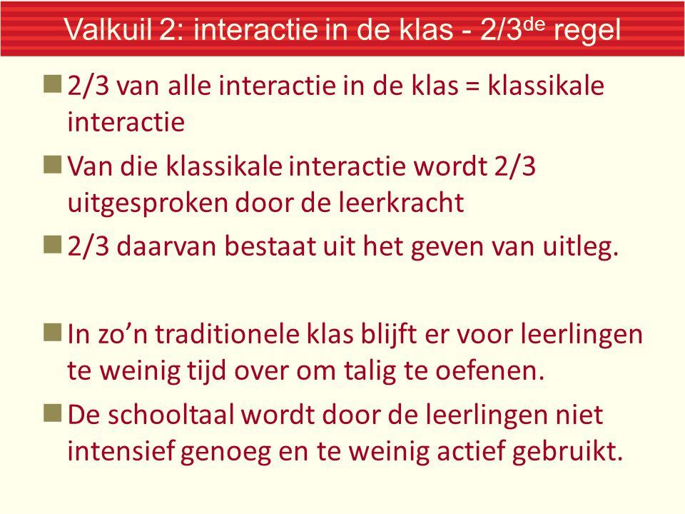 Valkuil 2: interactie in de klas - 2/3de regel