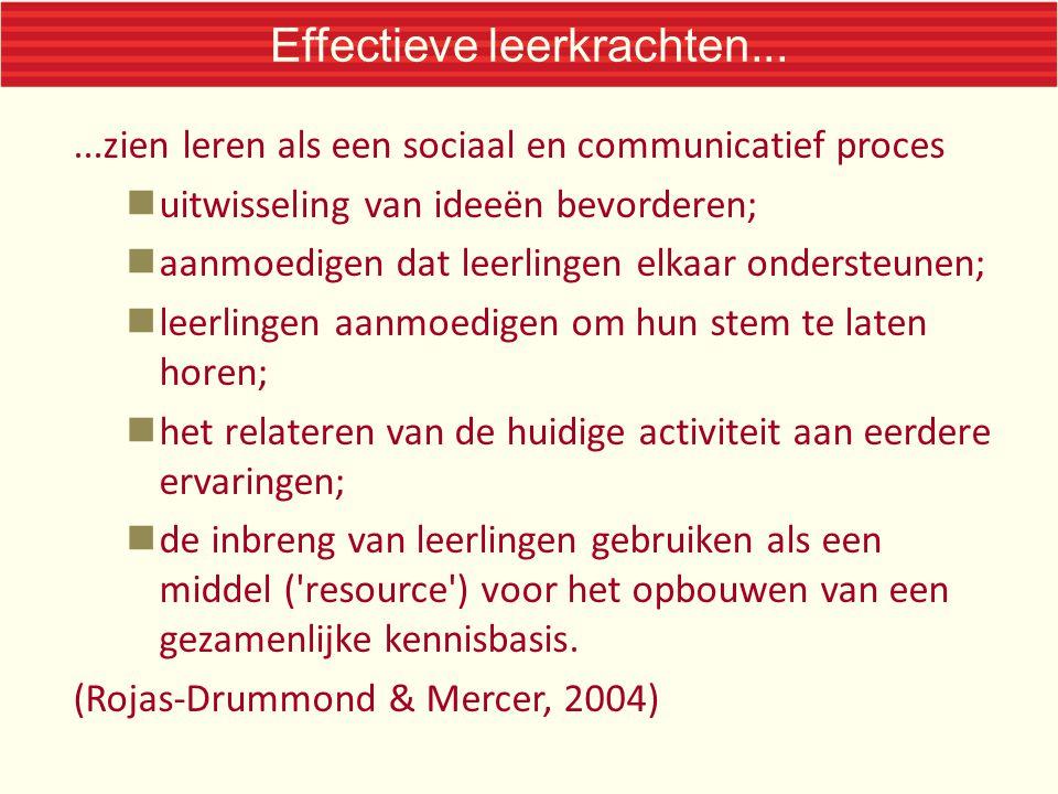 Effectieve leerkrachten...
