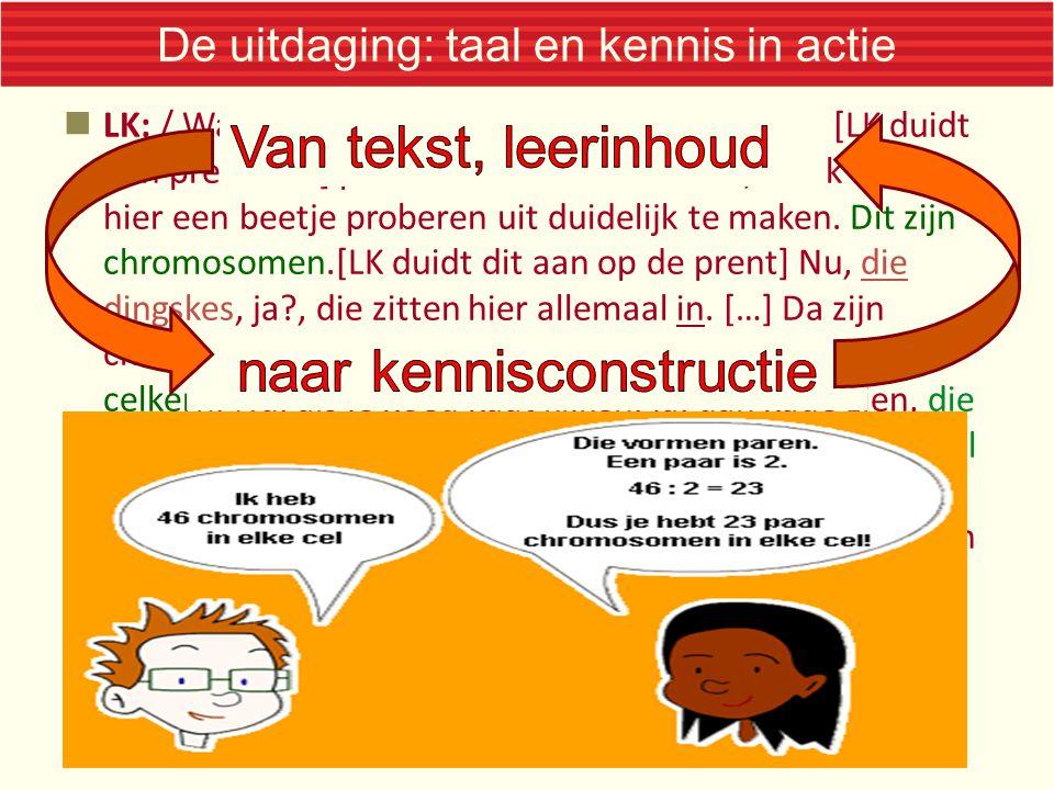 De uitdaging: taal en kennis in actie