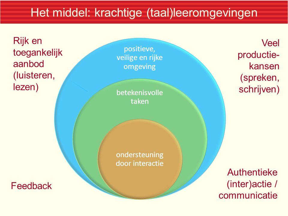 Het middel: krachtige (taal)leeromgevingen