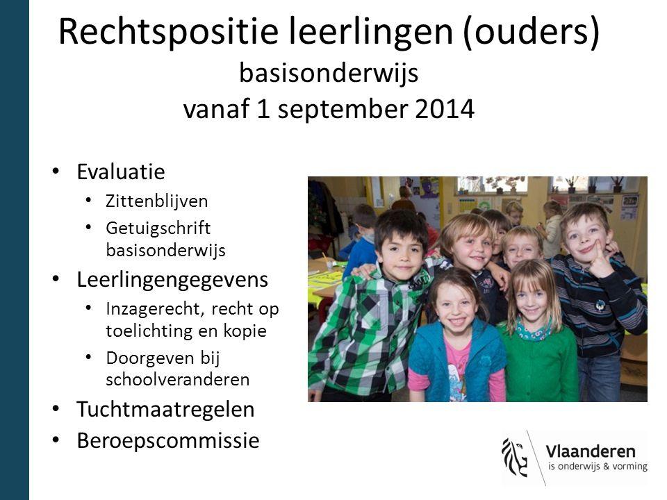 Rechtspositie leerlingen (ouders) basisonderwijs vanaf 1 september 2014