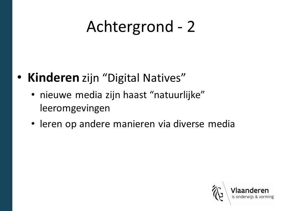 Achtergrond - 2 Kinderen zijn Digital Natives