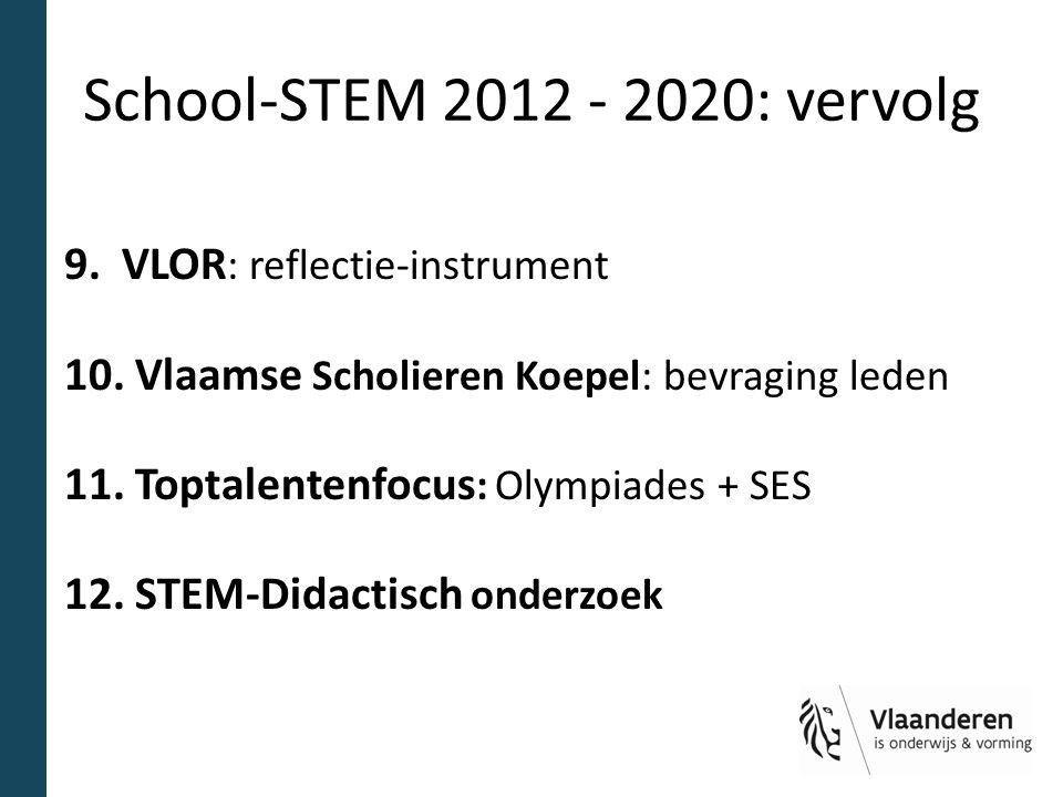 School-STEM 2012 - 2020: vervolg