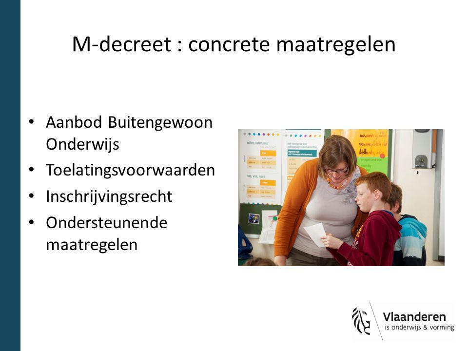 M-decreet : concrete maatregelen