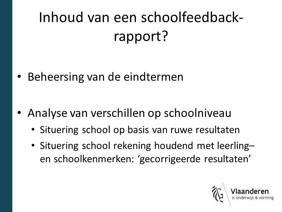 Inhoud van een schoolfeedback-rapport