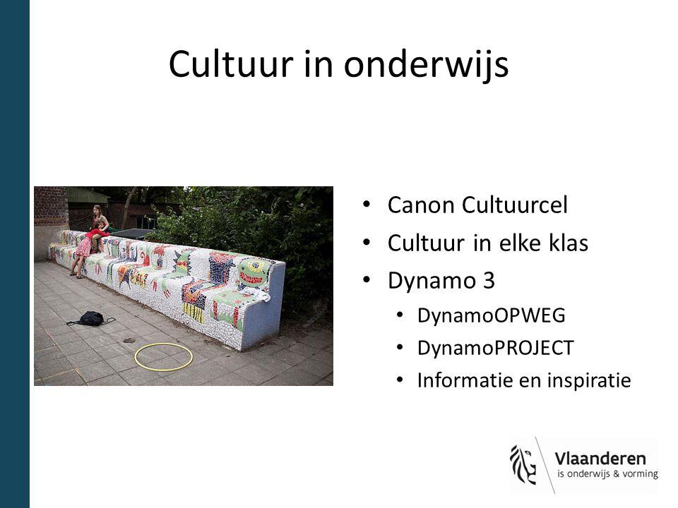 Cultuur in onderwijs Canon Cultuurcel Cultuur in elke klas Dynamo 3