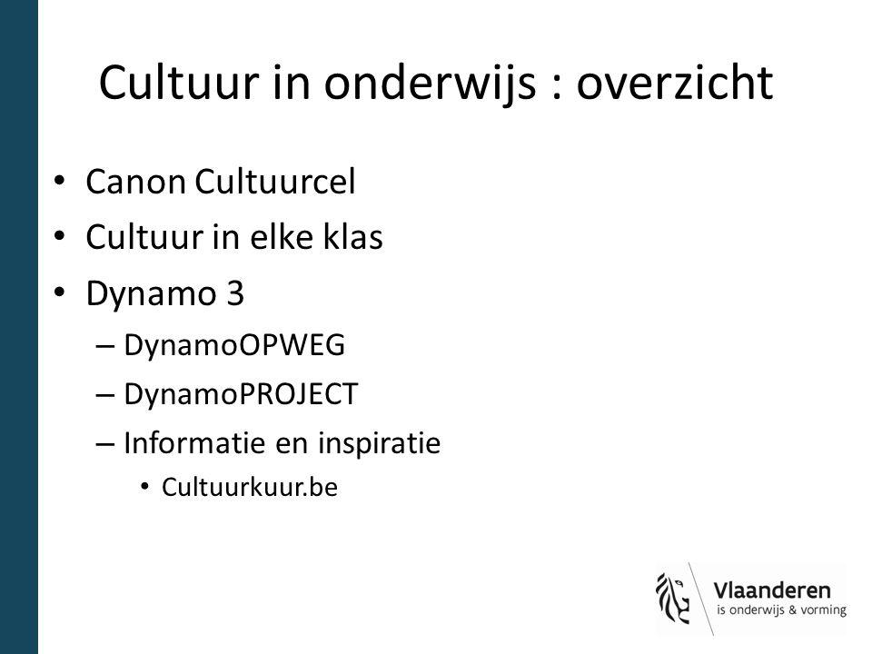 Cultuur in onderwijs : overzicht
