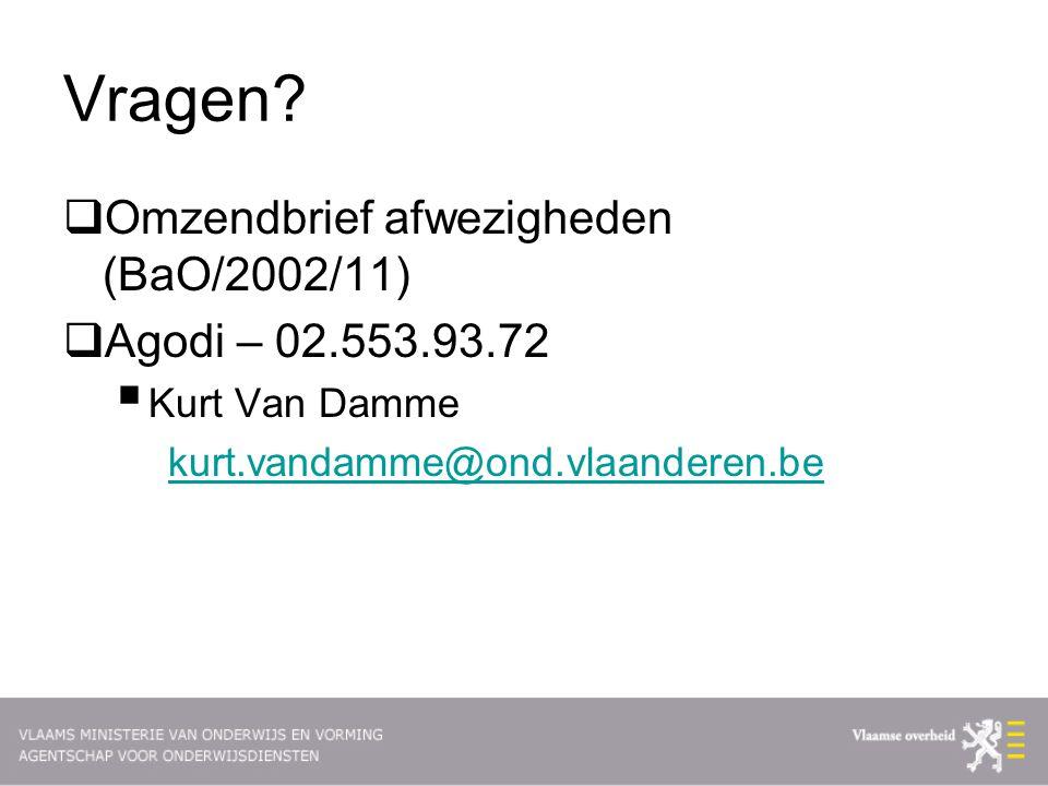 Vragen Omzendbrief afwezigheden (BaO/2002/11) Agodi – 02.553.93.72