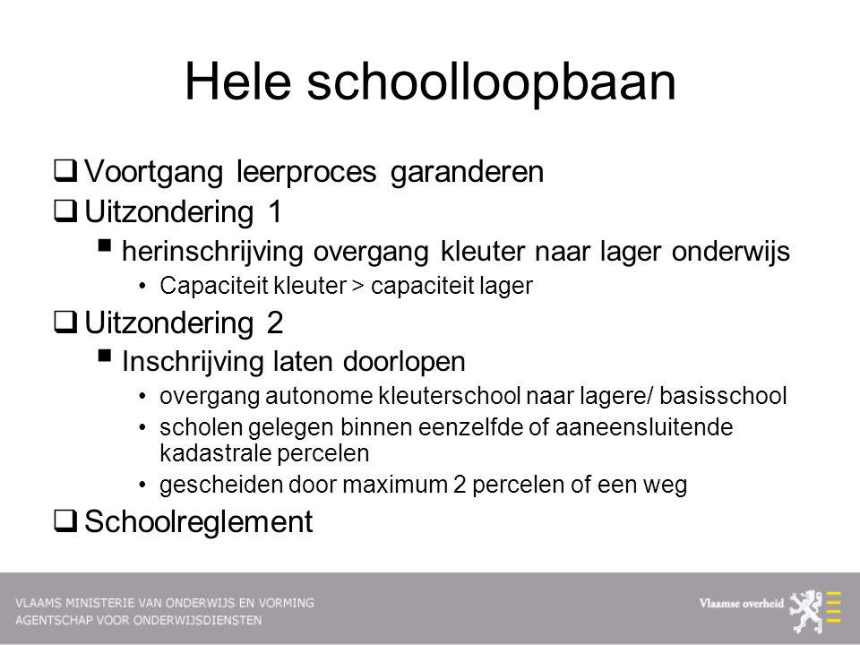Hele schoolloopbaan Voortgang leerproces garanderen Uitzondering 1