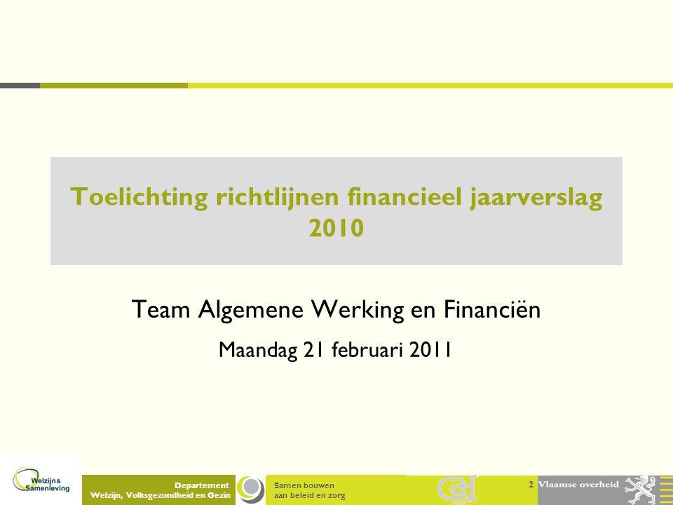 Toelichting richtlijnen financieel jaarverslag 2010