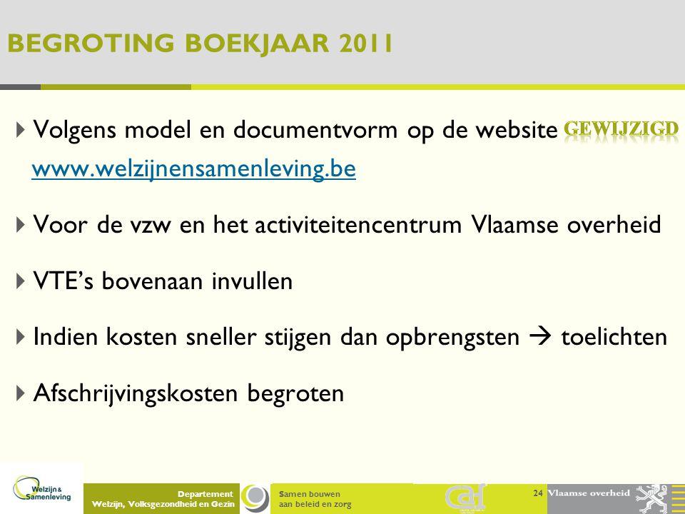 Voor de vzw en het activiteitencentrum Vlaamse overheid